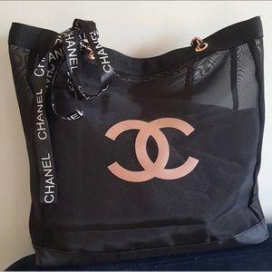 AUTHENTIC CHANEL VIP MESH PINK BAG